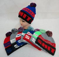 Knit Hat with PomPom [WHO GIVES A SHIT]